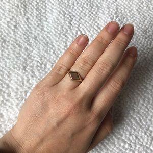 Diamond shaped signet ring
